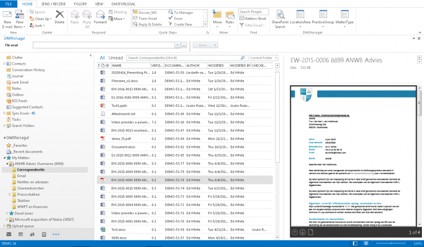 DMSFL doc view outlook